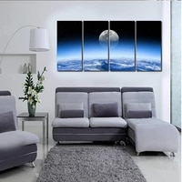 Peinture a lhuile sur toile  paysage de lune dans lunivers  toile de fond pour salon  top HD 2016