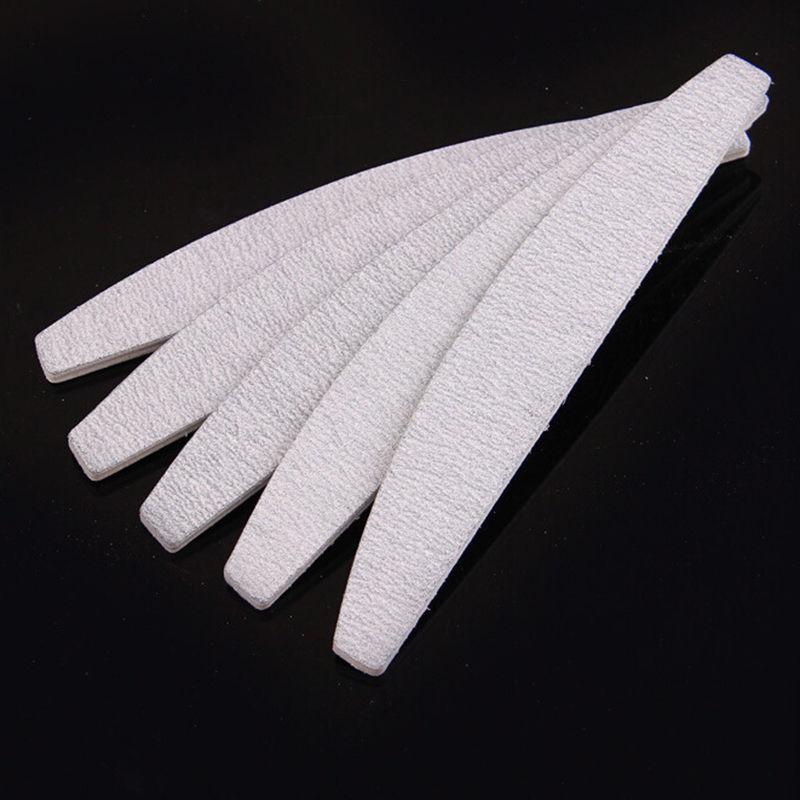 10 Pcs/lot Sandpaper Nail File Nail Art Women Girls Sanding Files Polish Buffing Curve Manicure Tool