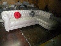 JIXINGE European Style Royal Living Room Furniture Top Genuine Leather chesterfield L shape Living Room Sofa SF371