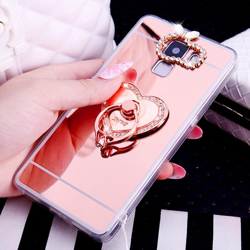 For Huawei Y6 2019 Case Y7 Prime 2019 Honor V20 10 Lite 8A Cover P Smart Nova 4 P30 Plus P30 Pro Mirror Diamond Plating Soft TPU