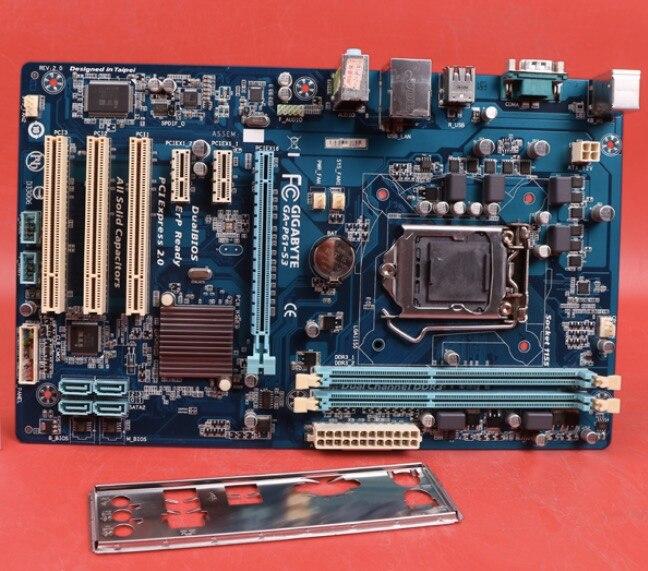 Original placa base para Gigabyte GA-P61-S3 LGA 1155 DDR3 I3 I5 I7...
