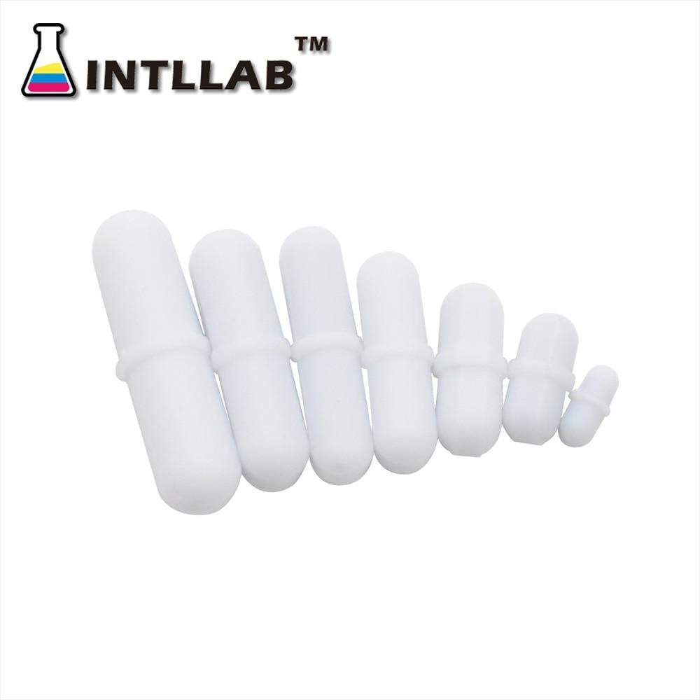INTLLAB  Mixed Size Stir bar PTFE Magnetic Stirrer Mixer Stir Bars 7pc