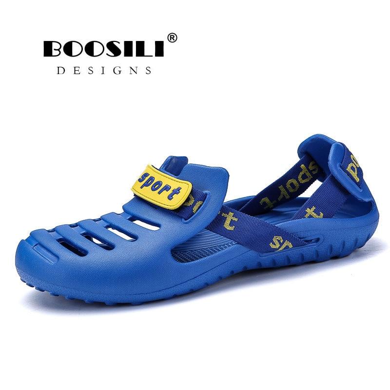 Мужские пляжные сандалии из ЭВА, черные или белые сандалии с ремешком-кроксом, для плавания, летняя обувь для сада и пляжа, 2020