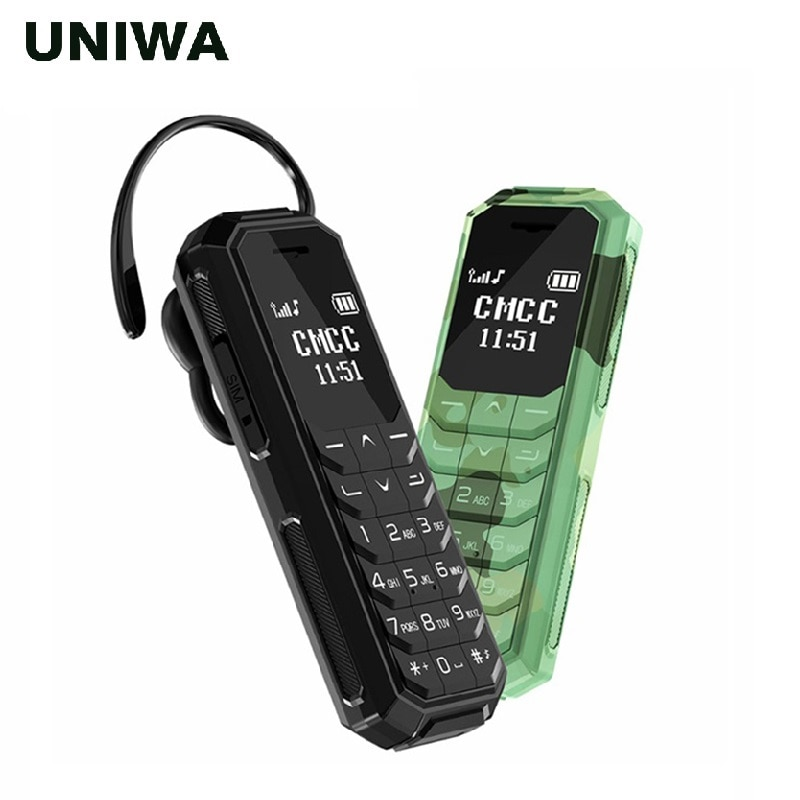 UNIWA KK2 Mini Mobile Phone Kid Bluetooth Wireless Earphone 2G Unlocked Small Cellphone Magic Voice As BM10 BM70 BM 50