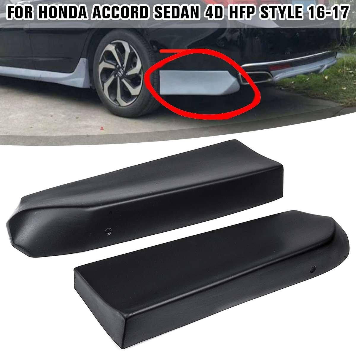 Un par de parachoques trasero de coche, separador de labios, Alerón, embellecedor de labios, divisor de ajuste para Honda para Accord Sedan 4D, estilo HFP 2016-2017