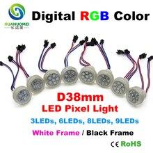 Módulo led 38mm ucs1903 12V pixel rgb nodos modulo leds 5050 color Módulo de píxeles led luz ip68 modulos letras iluminadas