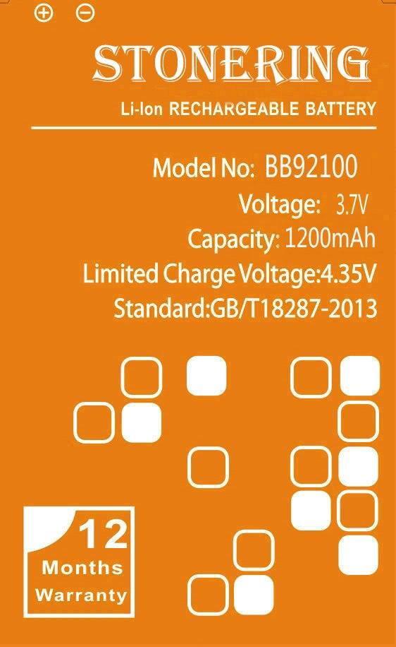 Stonering 1200 mAh BB92100 Batterie für HTC A6366 Aria Liberty HD Mini T5555 UNS Photon