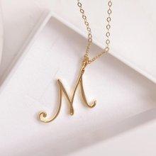 Skript Initial M Brief Halskette Cursive Brief M Name Brief Halskette für Liebhaber Geburtstag Schmuck Geschenke