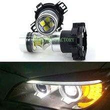 Yiastar 2x âmbar amarelo 20smd 100w py24w lâmpadas led refletor espelho turn signal luzes