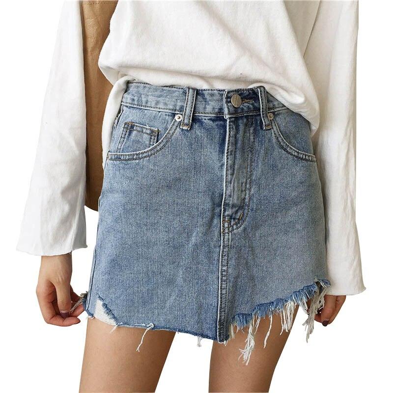 Летняя джинсовая юбка Danjeaner, Женская юбка с высокой талией, нестандартная джинсовая юбка, женские мини юбки, повседневные юбки-карандаш юбки trussardi юбка