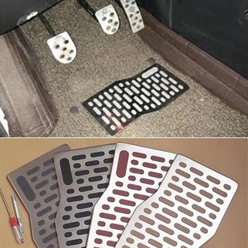 Автомобильные коврики, автомобильные алюминиевые накладки, педали для ног, коврики для AUDI A3 8P 8l A4 b5 b6 b7 b8 A5 Q3 Q5 Q7 TT MK1 MK2 MK3 s line