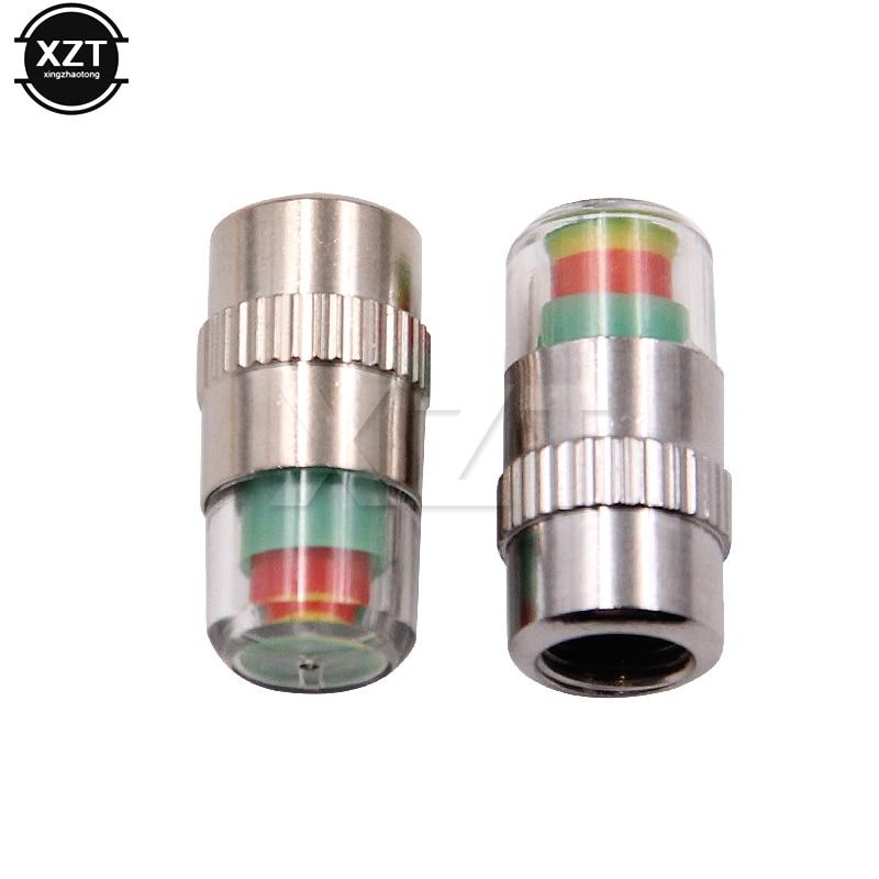 4 pçs/lote 2.4 barra do carro auto monitor de pressão dos pneus válvula tampas da haste capa sensor indicador alerta