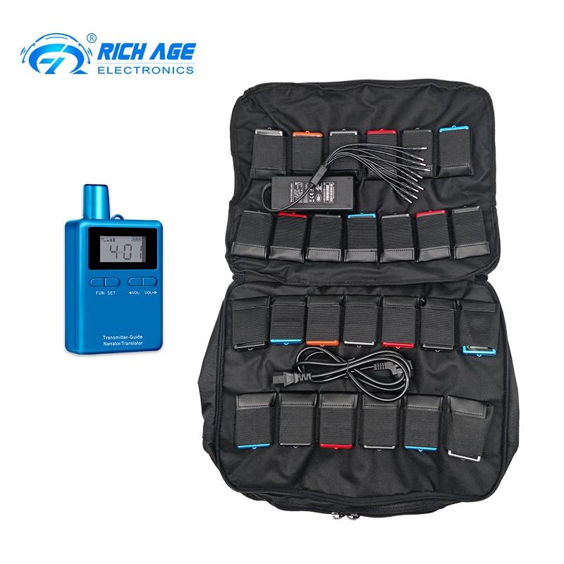 Sistema de Guia Receptores para a Agência de Viagens com Fone de Ouvido Transmissores + 50 Turístico Richitek Equipamentos Handheld Microfone 2