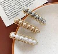 fashion simple retro vintage crystal pearl elegant women barrettes hair clip hairgrips hair accessorie headwear