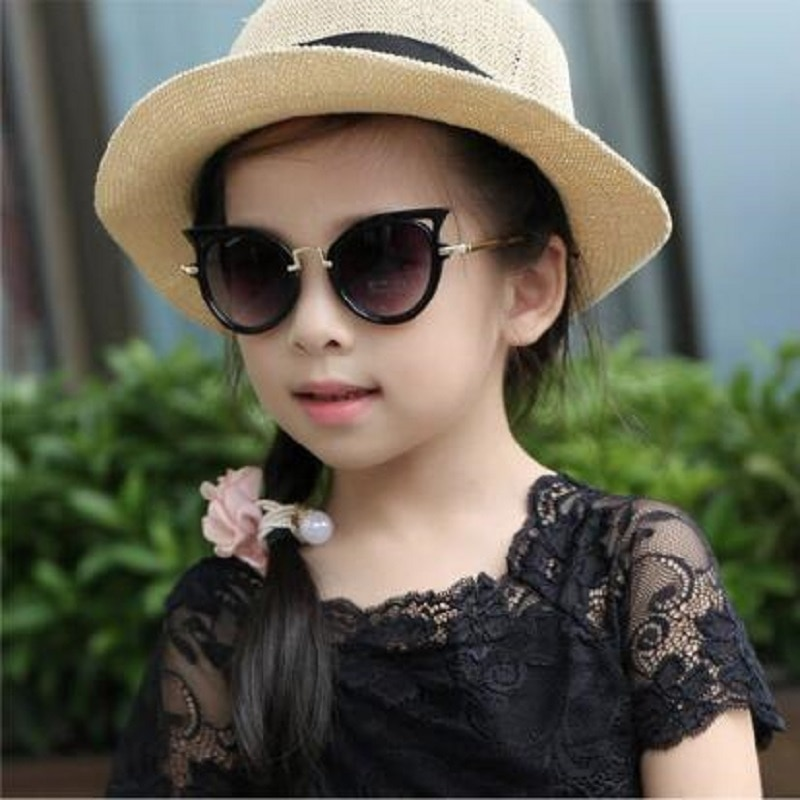 aliexpress.com - Children Sunglasses Cat Eye Vintage 2021 Kids Girl Boy Cute Eyewear Baby Shades Goggles UV400 Fashion Infant Glasses