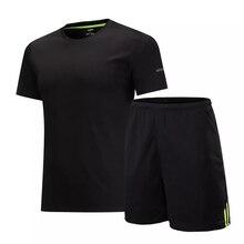 Abbigliamento Sportivo uomo kit Manica Corta Sport Corsa e Jogging Degli Uomini Del Vestito Kit di Formazione di Calcio Jersey di calcio Si Adatta Abbigliamento Da Palestra Shorts T-Shirt