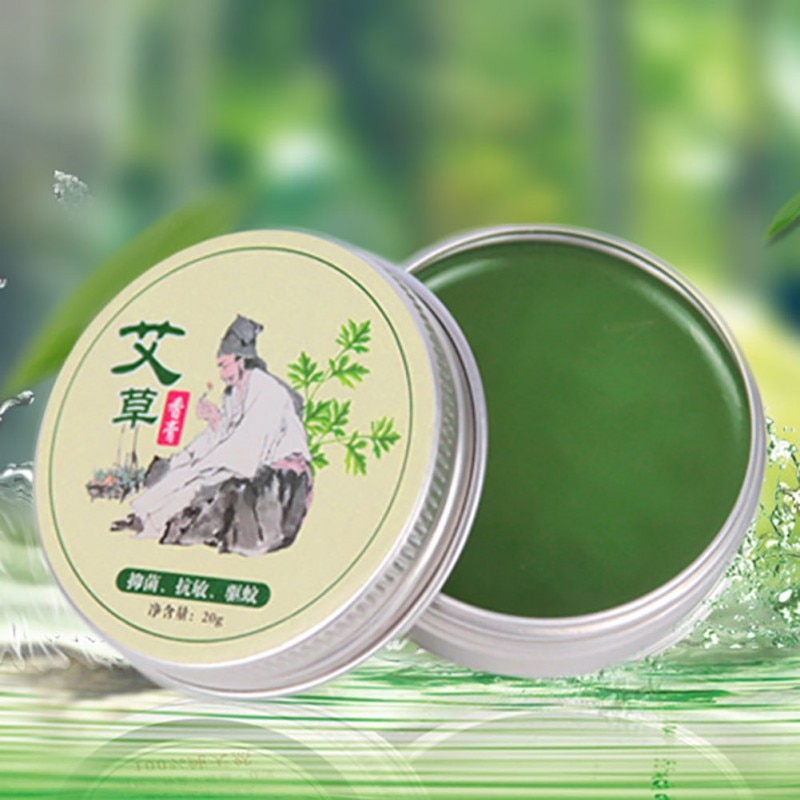 Hot Wormwood Mosquito Repellent Pure Herbal Moxa Moxibustion Cream Mugwort Acupuncture Tsao Essence 1Pc hanriver electric heating moxa spontaneous hot tsao apply to protect the knee joints physical therapy product package