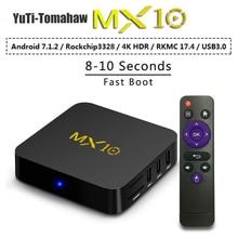 MiNi pc MX10 Smart TV Box Android 8.1 RK3328 Quad Core 64bit DDR3 4 GB 32 GB 4 K HD Wifi 100 M LAN USB3.0 décodeur lecteur multimédia