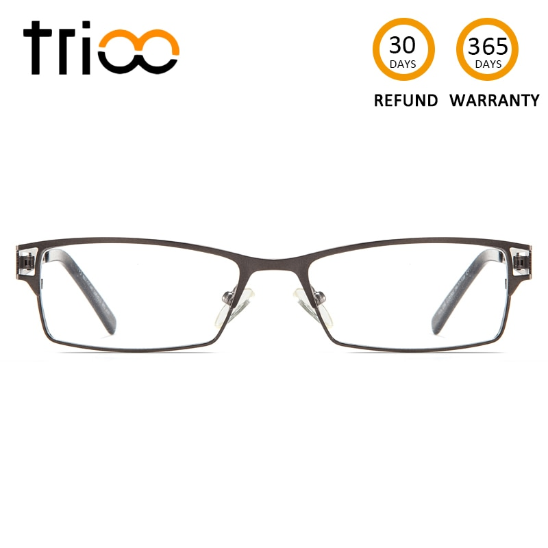 TRIOO gafas hombres Plaza Gafas de Metal 1,6 marcos 1,67 dioptrías claro lentes de lectura gafas computadora gafas