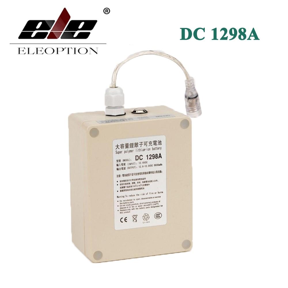 ELEOPTION impermeable 12 V 9800 mah batería de iones de litio portátil superrecargable DC1298A