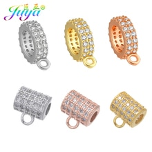 Juya DIY abalorios componentes de joyería Suministros 1 Agujero separador de Metal ganchos para piedras naturales fabricación de joyas de abalorios