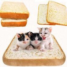 Creative Toast Bread Cat Pillow Dog Pet Cushion Supplies Bed Mat Soft Cushion Plush Seat Cushion 40x40cm
