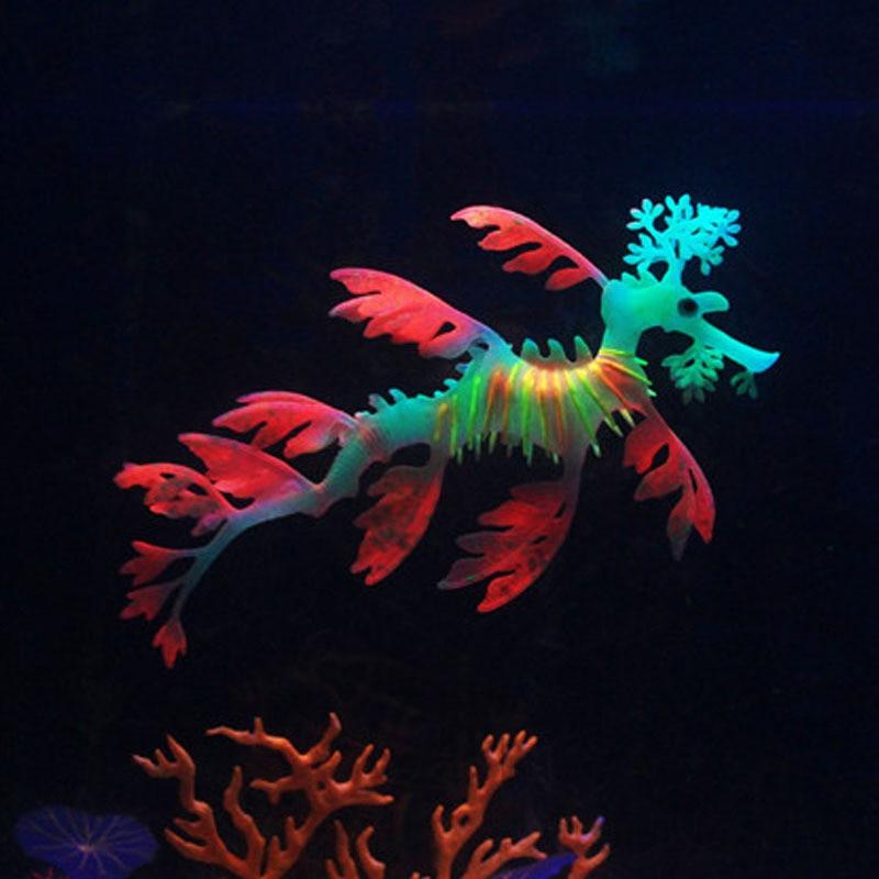 Luminous Glowing Silikon Künstliche Sea Dragon Aquarium Dekoration Aquarium Dekor Aquarium Submarine Ornament