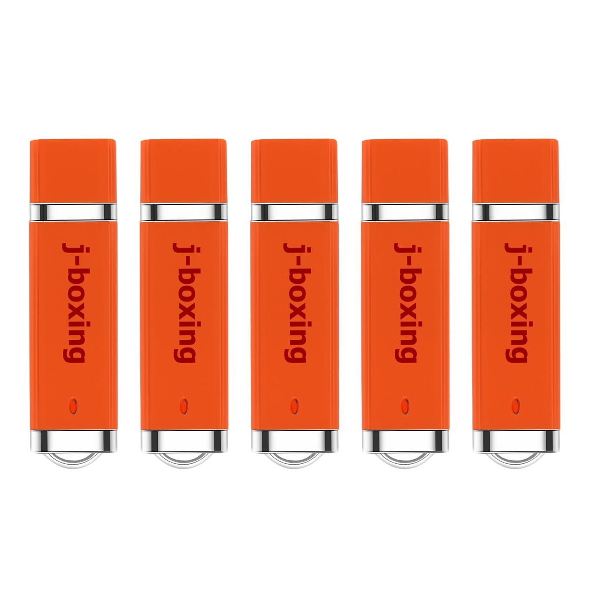 J-boxing, unidad Flash USB a granel, 1GB, 2GB, 4GB, 8GB, 16GB, 32 encendedor GB, diseño, memoria USB, unidad de memoria USB, naranja, 5 unids/pack