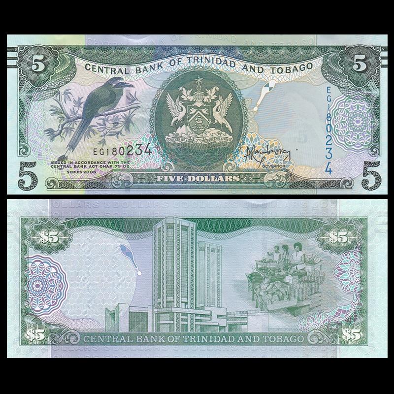 Trinidad and Tobago 5 Dollar, 2006(2015), P-NEW, UNC, America,  Gift, Original