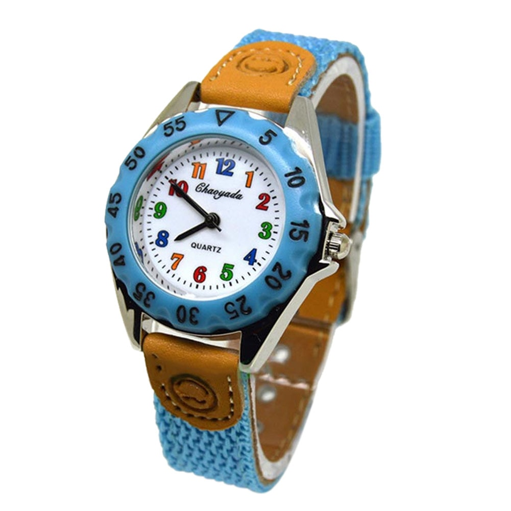 Cute Boys Girls Colorful Quartz Watch Kids Children Sport Casual watch Fabric Strap Student Time Party Clock Wristwatch Gifts fashion watch girls kids watch for gifts cute cartoon children watches full stainless steel strap quartz watch clock hodinky