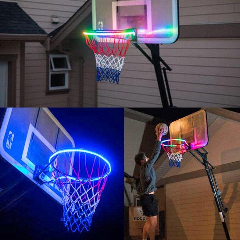 Светодиодная лампа-обруч для баскетбола, аксессуары для ночной съемки, принадлежности для детской игры, детские игрушки на открытом воздухе