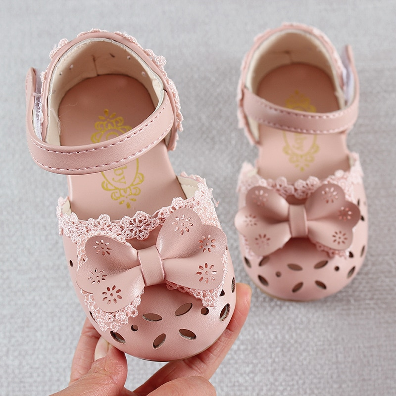 Newest Summer Kids Shoes 2020 Fashion Leathers Sweet Children Sandals For Girls Toddler Baby Breatha