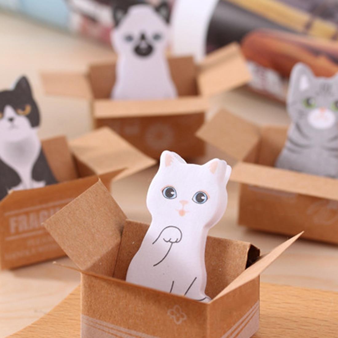 FangNymph милый кот собака коробка наклейки Скрапбукинг Kawaii 3D мультфильм канцелярские Липкие заметки школьные принадлежности Post It блокнот