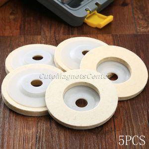 Image 1 - 5 шт. 4 дюйма 100 мм шерстяные полировальные диски, полировальные диски, угловая шлифовальная машина, войлочный полировальный диск для металла, мрамора, стекла, керамики