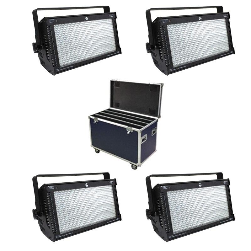 С Flightcase 4 единицы 1000 Вт LED RGB Стробоскоп 3 цвета Atomic 3000 LED Стробоскоп освещение для сцены Вечеринка МУЗЫКА АКТИВНЫЙ эффект свет