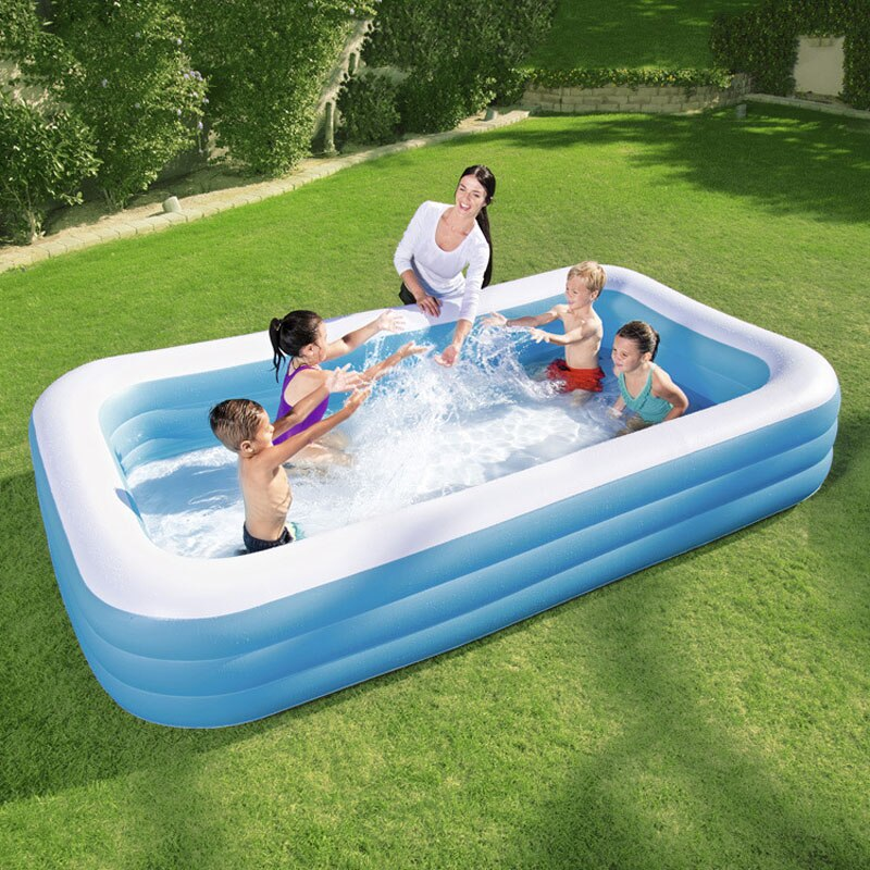 Bestway 305*183*56cm famille accrue pataugeoire gonflable enfants Marine piscine à balles infantile piscine de sable avec pompe