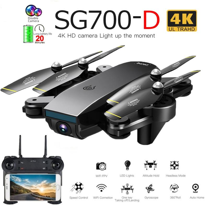 SG700-D المهنية طوي بدون طيار مع كاميرا مزدوجة 1080P 720P 4K Selfie واي فاي FPV البصرية تدفق أجهزة الاستقبال عن بعد هليكوبتر XS809S