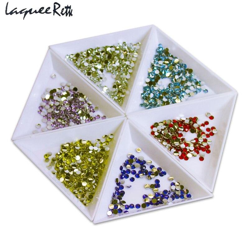 10 unids/lote bandejas de plástico triangulares de clasificación Unha cuentas de diamantes de imitación cristal 3D uñas joyas artísticas herramientas Accesorios
