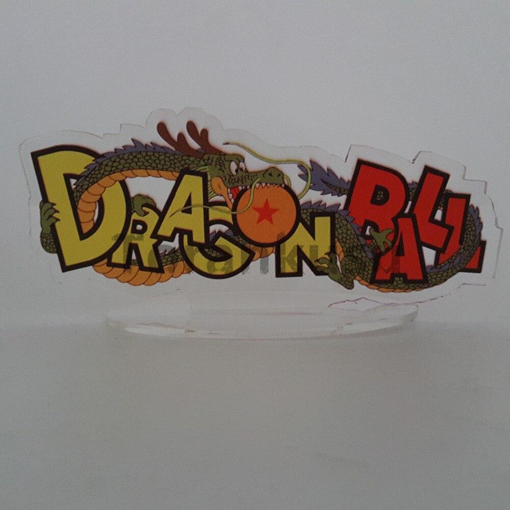 Dragon Ball Z figuras de acción Shenlong logotipo Base de acrílico de la bola del dragón del Anime Super Goku Shenron DBZ figura de juguete