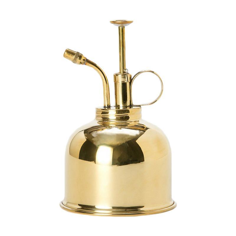 Brass Watering Bottle Nordic Style Vintage Water Cans Succulent Plants Golden Gardening Spraying Bottle Watering Pot Garden Tool