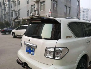 For Nissan PATROL Y62  armada  spoiler ABS Plastic White Black Color Rear Trunk Boot Wing Spoiler Car Accessories 1Pcs 2011-2018