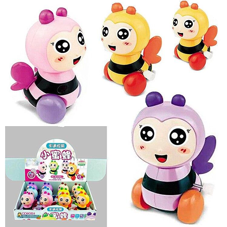 Dibujos animados en la cadena de cuerda, Animal PEQUEÑO de primavera, mini-apis Florea, juguetes de regalo pequeños