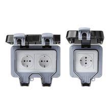 Prise de courant 220 à 250V   Norme européenne, interrupteur mural extérieur IP66 résistant aux intempéries et à la poussière