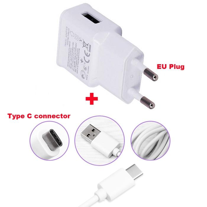 2A adaptador de la UE del cargador del teléfono móvil + tipo C Cable de datos USB Cable para LG Nexus 5x Oneplus dos para Nokia 7 Google Pixel/Pixel XL