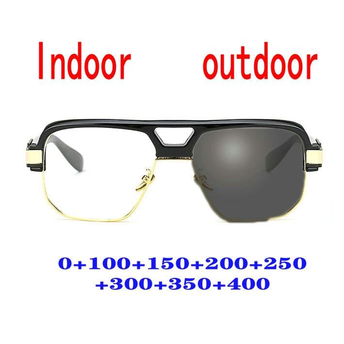 Прогрессивные фотохромные солнцезащитные очки для чтения, мужские очки для чтения с дальним зрением