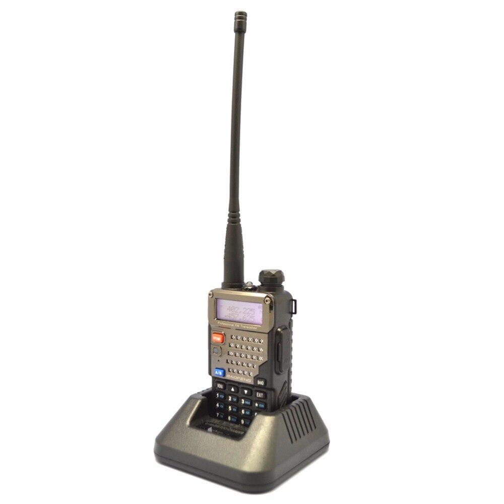 Baofeng UV-5RE+ PLUS Walkie Talkies Dual Band Cb Handy Hunting Radio Receiver With Headfone UHF 400-470MHz VHF136-174MHz