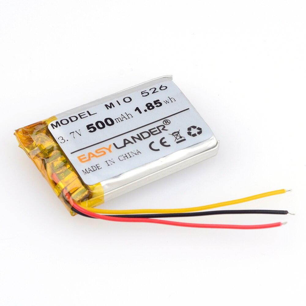 Easylander reemplazo 3,7 V 500mAh li-polímero batería para mp3 mp4 gps mio mivue 526 grabadora GPS conducir DVR