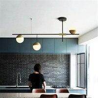 Postmodern loing bar living room pendant light creative villa restaurant glass ball hanging light fixtures