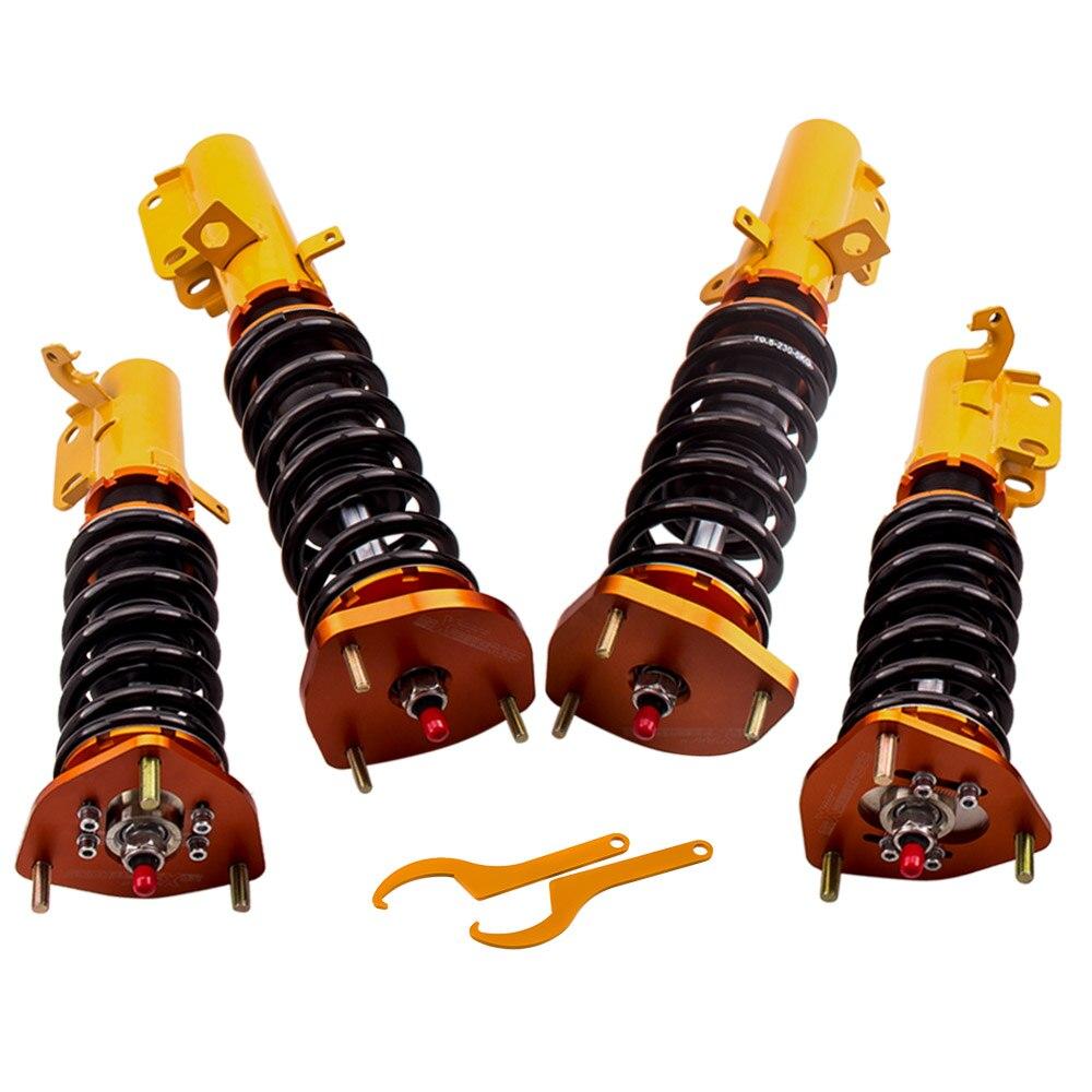 24 weisen Adj. Dämpfer Gewindefahrwerk Frühling Für Toyota Corolla E90 E100 E110 AE100 Stoßdämpfer Strut Straße Gewindefahrwerk