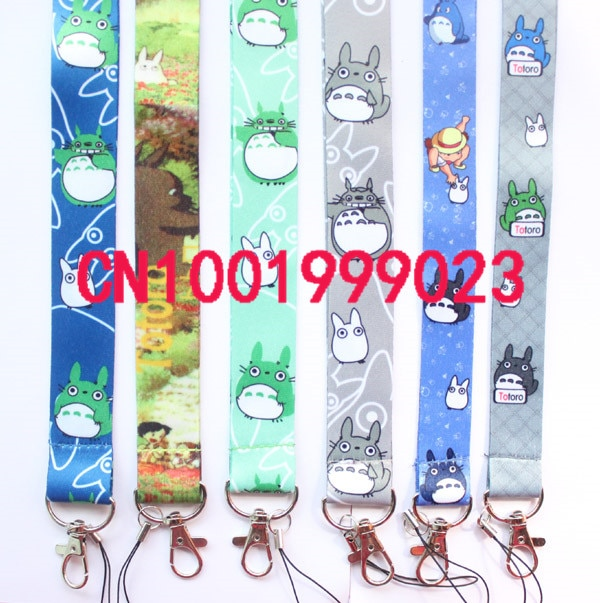 Lots 100pcs My Neighbor Totoro Neck Strap Lanyard Keychain Phone Camera ID Card Key Badge Holder New mixed design #721